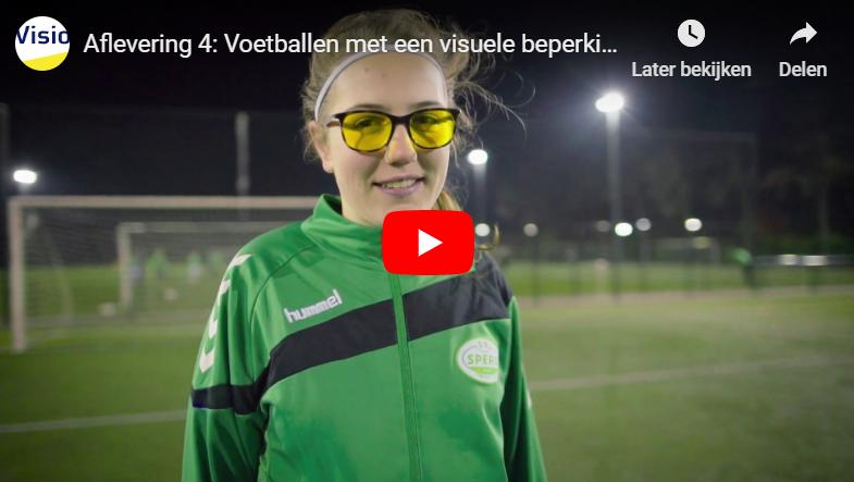 Anouk in video over voetballen met visuele beperking